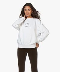 ANINE BING Ramona Monogram Sweatshirt - Wit