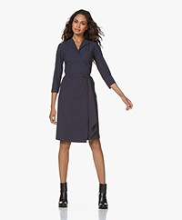 LaDress Penelope Travel Jersey Wrap Dress - Midnight Mist