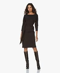 LaDress Caroline Travel Jersey Knee-length Dress - Black