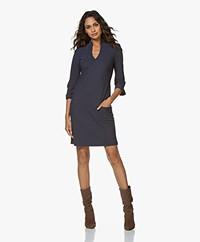 LaDress Sade Travel Jersey V-neck Dress - Midnight Mist