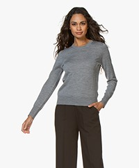 Filippa K  Merino R-neck Sweater - Medium Grey Melange