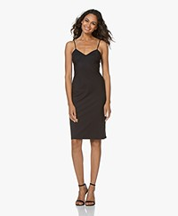 LaDress Mythical Travel Jersey Spaghetti Strap Dress - Black