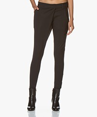 Woman By Earn Earn Tapered Tech Jersey Pants - Black