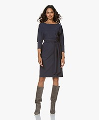 LaDress Caroline Travel Jersey Knee-length Dress - Midnight Mist