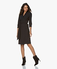 LaDress Penelope Travel Jersey Wrap Dress - Black