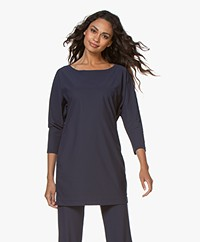 LaDress Reese Travel Jersey Long Shirt - Midnight Mist