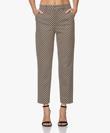 Drykorn Search Jacquard Jersey Pantalon - Beige/Bruin