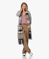 Repeat Striped Wool-Cashmere Scarf - Multi-color