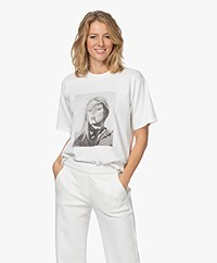ANINE BING Ida Terry O'Neill T-shirt - Off-white