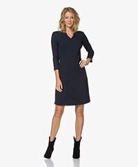 no man's land Textured Jacquard Jersey Dress - Petrol