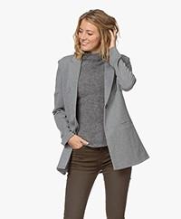 Repeat Jersey Boyfriend Blazer - Medium Grey