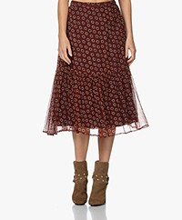 by-bar Rose Daisy Print Midi Rok - Pompeii