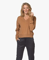 MKT Studio Kassina Merino V-neck Sweater - Camel