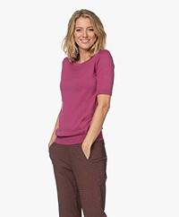 JapanTKY Kie Short Sleeve Sweater - Violet