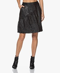 Zadig & Voltaire Jamie Crinkle Leather Skirt - Black