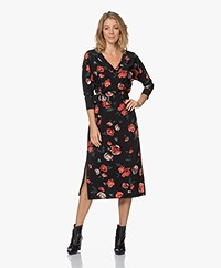 LaDress Mara Travel Jersey Printed Dress - Red Roses
