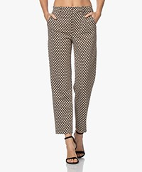 Drykorn Search Jacquard Jersey Pants - Beige/Brown