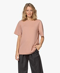 extreme cashmere N°64 Long Knitted Cashmere T-shirt - Tea Rose