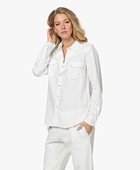 ba&sh Bridget Katoenen Blouse - Ecru
