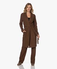 HANRO Easy Wear Katoenmix Vest met Strikceintuur - Donkerbruin