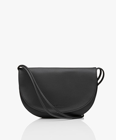 Monk & Anna Soma Half Moon Vegan Cross-Body Bag - Black