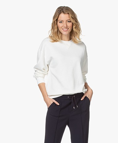 Filippa K Soft Sport Lyocell Mix Sweatshirt - Off-white