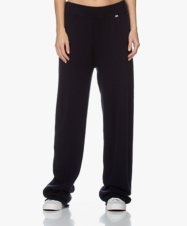 extreme cashmere N°104 Loose-Fit Cashmere Broek - Navy