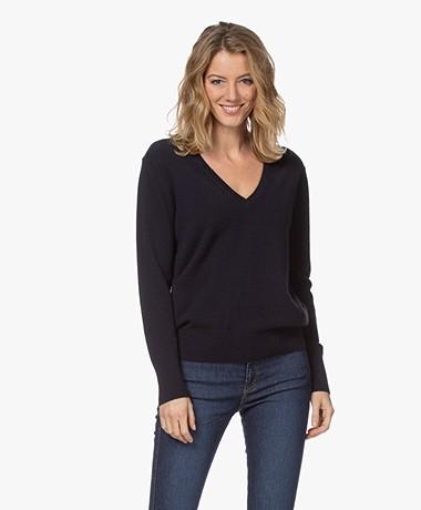 Filippa K Cashmere V-Neck Sweater - Navy
