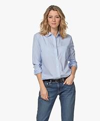 Equipment Kenton Striped Cotton Blouse - Blue/Bright White