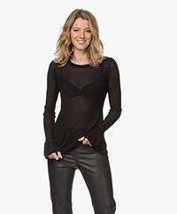 By Malene Birger Orlia Knitted Lurex Sweater - Black