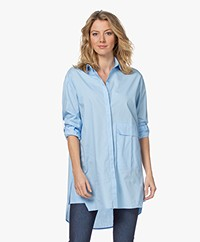 studio .ruig Olivia Cotton Poplin Blouse - Baby Blue