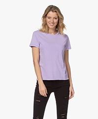 American Vintage Vegiflower Organic Cotton T-shirt - Soft Violet