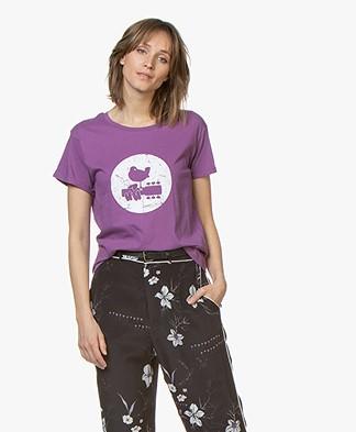 MKT Studio Trine Woodstock Print T-shirt - Lavende