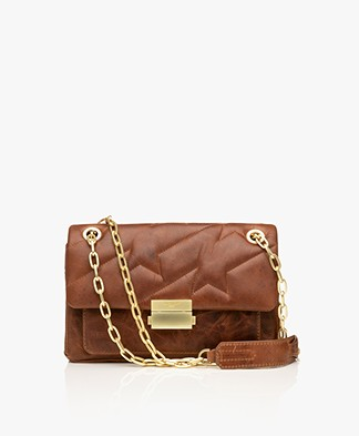 Zadig & Voltaire Ziggy XL Matelasse Shoulder Bag - Tan
