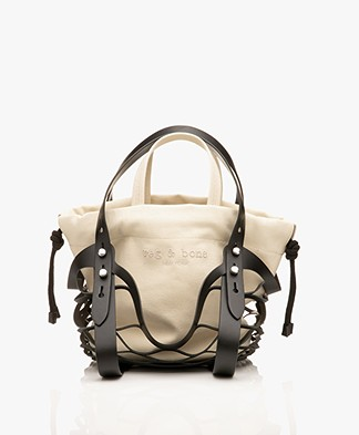 Rag & Bone Camden Market Net Shopper - Zwart/Canvas