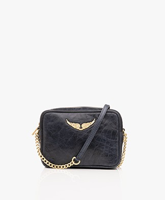 Zadig & Voltaire XS Boxy Crush Shoulder Bag - Marine