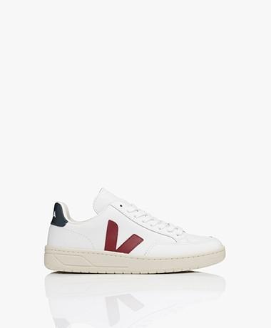 VEJA V-12 Leren Sneakers - Wit/Marsala/Nautico