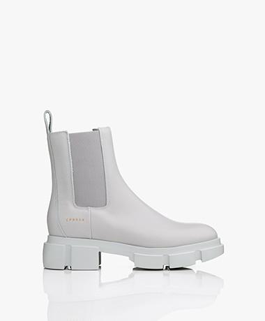 Copenhagen Studios Leather Chelsea Boots - Light Grey