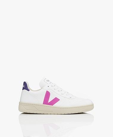 VEJA V-10 Vegan Sneakers - Wit/Ultraviolet/Paars