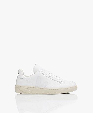 VEJA V-12 Leather Sneakers - Extra White