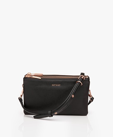 Matt & Nat Triplet Loom Cross-Body Tas - Zwart