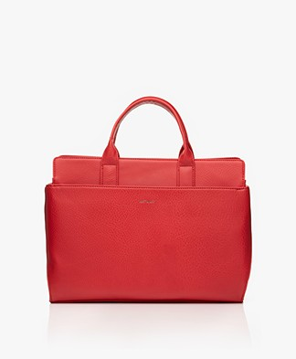 Matt & Nat Gloria Dwell Shoulder Bag/Laptop Bag - Red