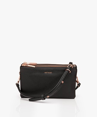 Matt & Nat Triplet Loom Cross-Body Bag - Black