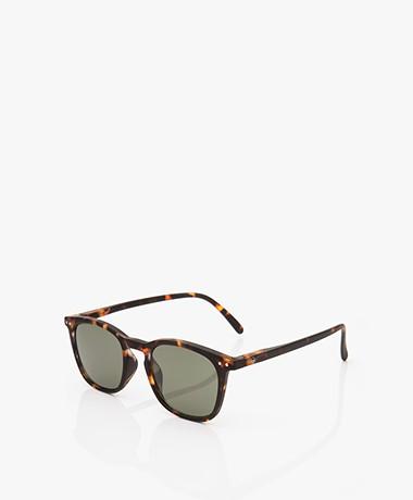 IZIPIZI SUN #E Sunglasses - Tortoise/Green Lenses