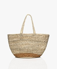 indi & cold Braided Jute Print Shopper - Crudo