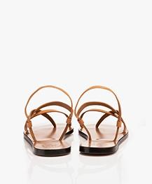 ATP Atelier Vacchetta Lizza Leather Sandals - Terra