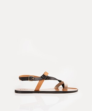 ATP Atelier Arona Tri-tone Leather Sandals - Terra/Black/White