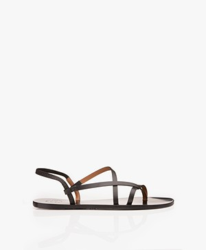 ATP Atelier Vacchetta Lizza Leather Sandals - Black