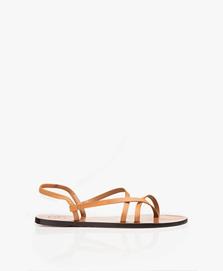 ATP Atelier Vacchetta Lizza Leather Sandals - Terra