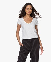 Drykorn Avivi Slub Jersey T-shirt - White